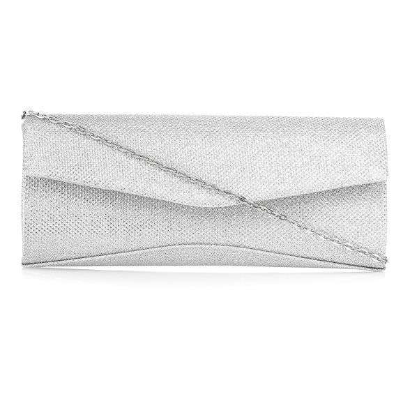 Debut Silver Silver Debut clutch glitter q66wndPg