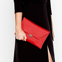 J by Jasper Conran - Red envelope clutch bag