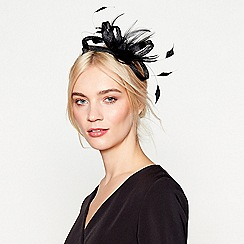 J by Jasper Conran - Black 'Amy' feather bow fascinator