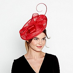 J by Jasper Conran - Red soft knot mini disc fascinator