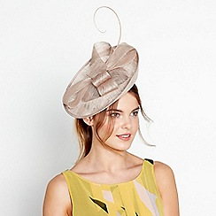 J by Jasper Conran - Natural soft knot mini disc fascinator