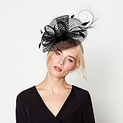 J by Jasper Conran - Black windowpane fascinator headband