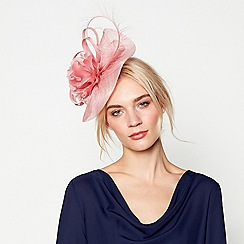 J by Jasper Conran - Pink 'Camelia' wave fascinator headband