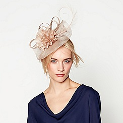 J by Jasper Conran - Beige 'Camelia' wave fascinator headband