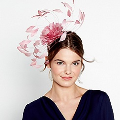 J by Jasper Conran - Pink statement feather spray fascinator
