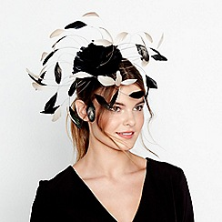 J by Jasper Conran - Black statement feather spray fascinator