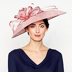 J by Jasper Conran - Pink 'Lila' downbrim fascinator