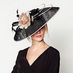 J by Jasper Conran - Black 'Lila' brim fascinator