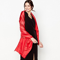 J by Jasper Conran - Red silk blend pashminetta