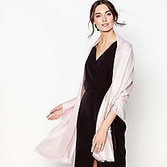 J by Jasper Conran - Pink silk blend pashminetta