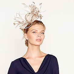 J by Jasper Conran - Light gold feather spray fascinator