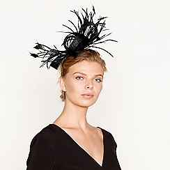 J by Jasper Conran - Black feather spray fascinator