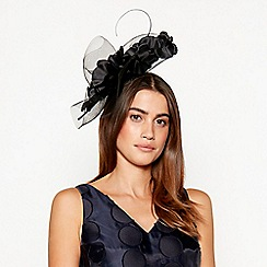 J by Jasper Conran - Black orchid crin fascinator