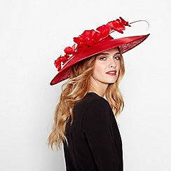J by Jasper Conran - Red sinamay orchid saucer fascinator