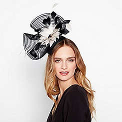 J by Jasper Conran - Black stitched crin floral fascinator