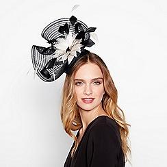 J by Jasper Conran - Black stitched crin floral fascinator
