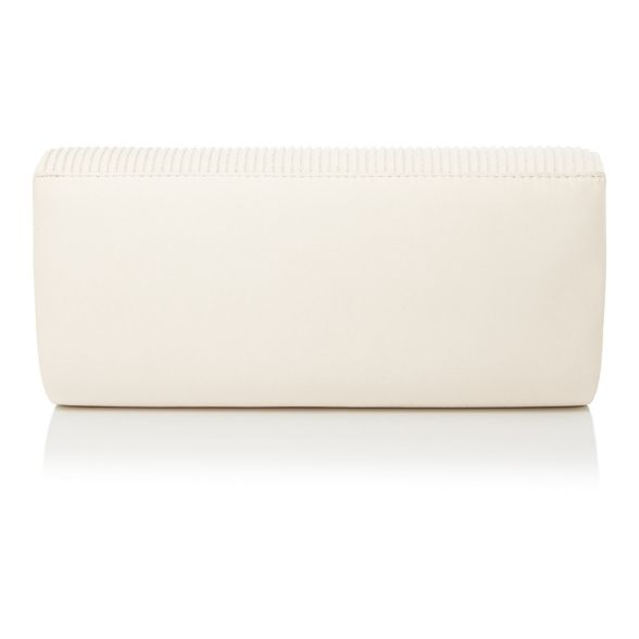 Debut sparkle Ivory ruched bag clutch pprwRq0