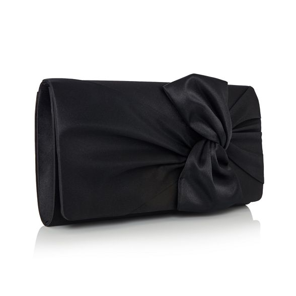clutch bag Black Debut knot satin wf8WS