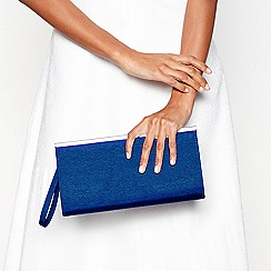 Debut - Blue zip top clutch bag