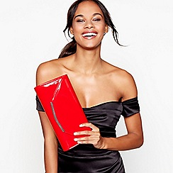 Debut - Red patent clutch bag