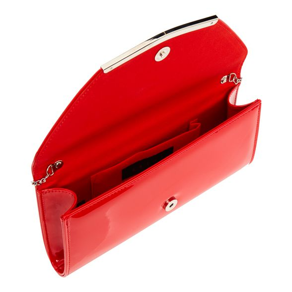 Debut clutch clutch patent Red bag Debut Red bag bag patent Red Debut Debut patent Red clutch UrxRUAnS