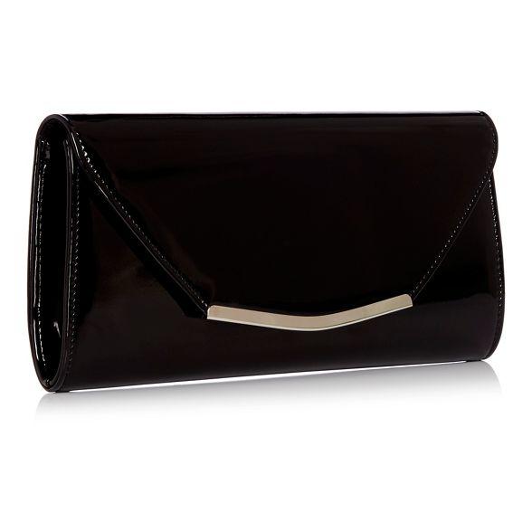 patent Debut Black clutch Debut bag Black wqZqFvT
