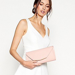 Debut - Pink patent clutch bag