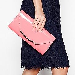 Debut - Light pink patent clutch bag