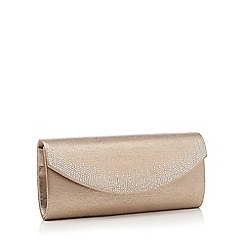 Debut - Mid rose crystal sparkle clutch bag