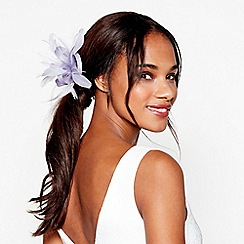 Debut - Lilac bow feather fascinator clip