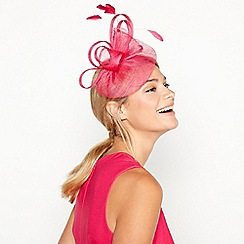 Debut - Bright pink 'Bon Bon' swoop fascinator