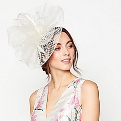 Debut - Ivory windowpane swoop fascinator