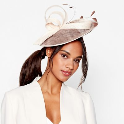 Debut   Pink Two Tone Saucer Fascinator by Debut