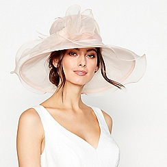 Debut - Light pink bow feather oversized packable hat