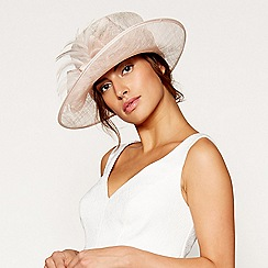 Debut - Light pink soft feather bow hat