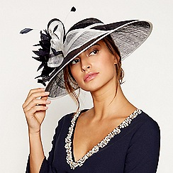 Debut - Navy two tone saucer fascinator