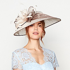 Debut - Taupe two tone saucer fascinator