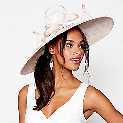 Debut - Light pink lace overlay saucer fascinator