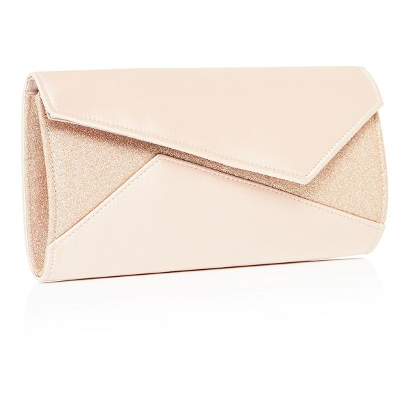 Gold glitter Debut satin bag clutch 6qdvnSY
