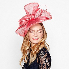 Debut - Pink sinamay wave fascinator