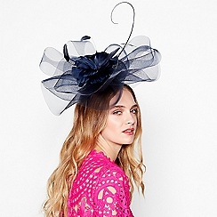 Debut - Navy flower crown fascinator