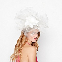 Debut - Ivory flower crown fascinator