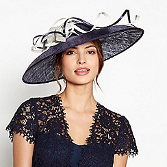 Debut - Navy two tone large saucer fascinator