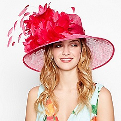 Debut - Bright pink sinamay trumpet hat