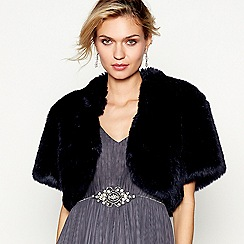 Debut - Navy faux fur shrug