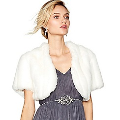 Debut - Ivory faux fur shrug