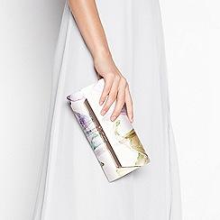 No. 1 Jenny Packham - Multi satin printed clutch bag