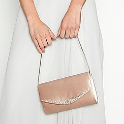 No. 1 Jenny Packham - Pale pink 'Marianne' satin crystal clutch bag