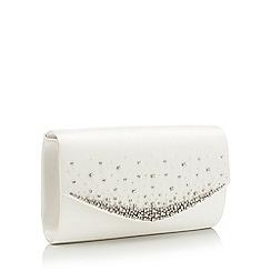 No. 1 Jenny Packham - Ivory 'Marianne' satin crystal clutch bag