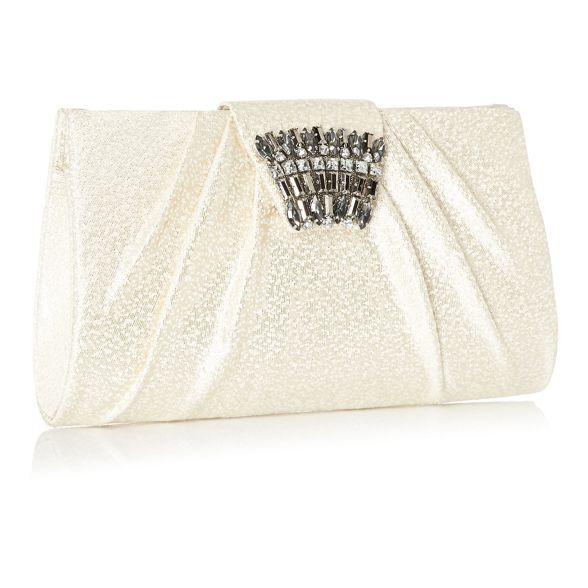 1 clutch Packham crystal 'Priscilla' No bag Ivory Jenny AxwdqOEYU